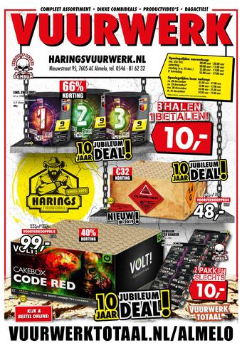 Harings Vuurwerk reclame folder (geldig t/m 31-12)