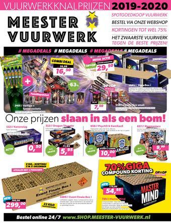 Meester Vuurwerk reclame folder (geldig t/m 31-12)