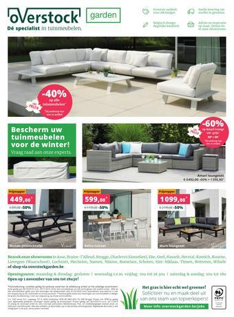 Overstock Garden reclame folder (geldig t/m 23-11)
