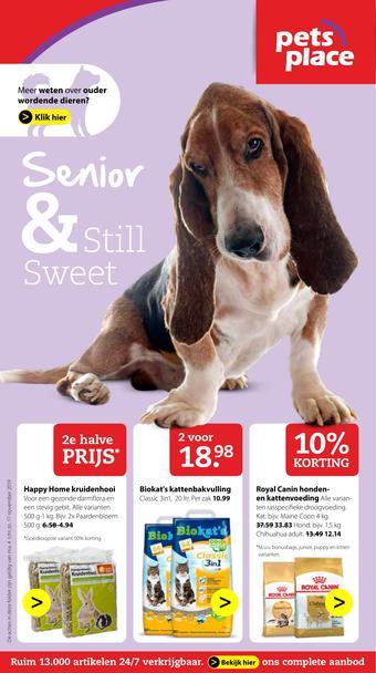Pets Place reclame folder (geldig t/m 17-11)