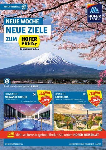 Hofer Reisen Werbeflugblatt (bis einschl. 26-11)