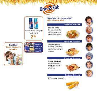 One 2 Eat reclame folder (geldig t/m 01-12)