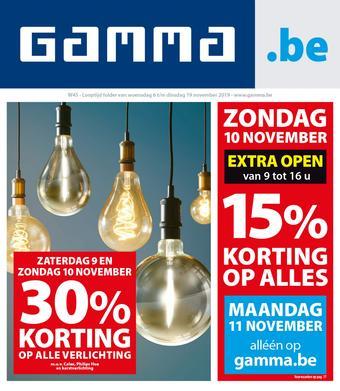 GAMMA reclame folder (geldig t/m 19-11)