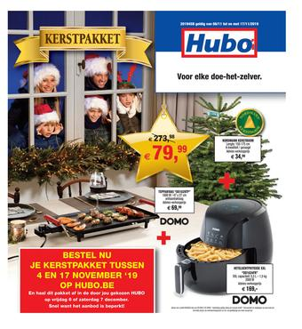 Hubo reclame folder (geldig t/m 17-11)