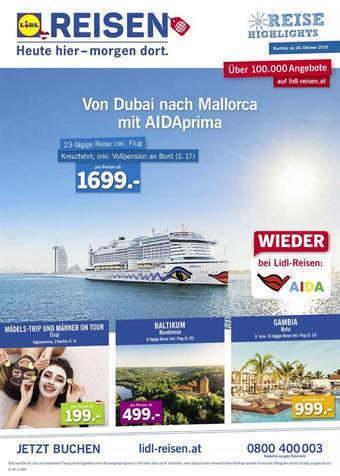 Lidl Reisen Werbeflugblatt (bis einschl. 30-11)