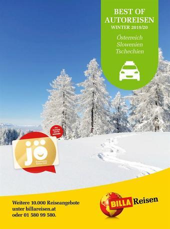 Billa Reisen Werbeflugblatt (bis einschl. 31-03)