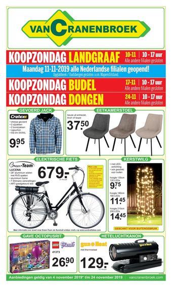 Van Cranenbroek reclame folder (geldig t/m 24-11)