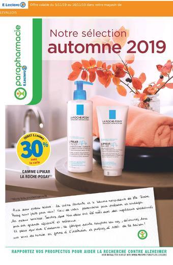 E.Leclerc Parapharmacie catalogue publicitaire (valable jusqu'au 16-11)