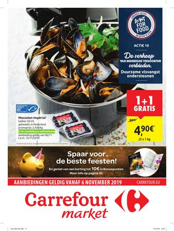 Carrefour Market reclame folder (geldig t/m 17-11)