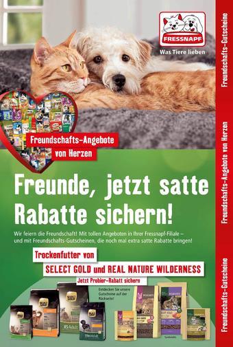 Fressnapf Werbeflugblatt (bis einschl. 20-11)