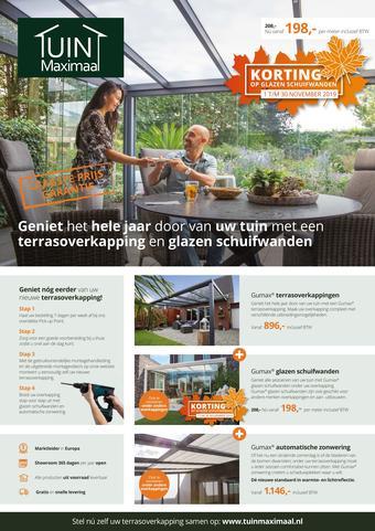 Tuinmaximaal reclame folder (geldig t/m 30-11)