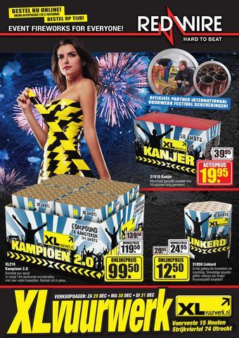 XL vuurwerk reclame folder (geldig t/m 31-12)