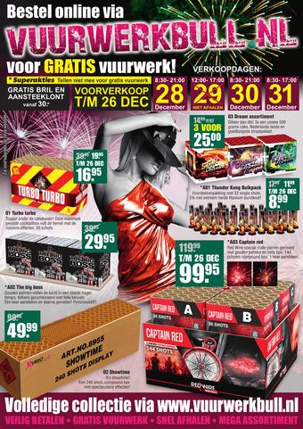 Vuurwerk Bull reclame folder (geldig t/m 31-12)