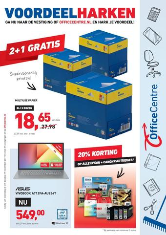 Office Centre reclame folder (geldig t/m 19-11)