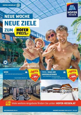 Hofer Reisen Werbeflugblatt (bis einschl. 03-12)