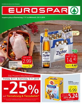Eurospar Werbeflugblatt (bis einschl. 20-11)