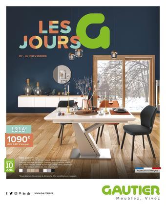 Gautier catalogue publicitaire (valable jusqu'au 30-11)