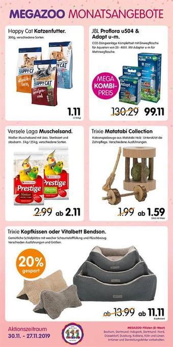 MegaZoo Werbeflugblatt (bis einschl. 27-11)