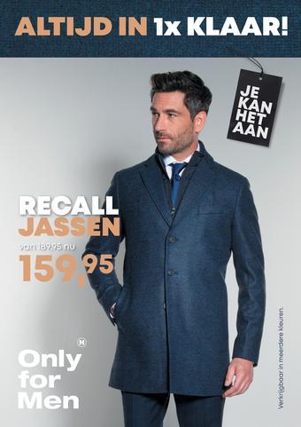Only for Men reclame folder (geldig t/m 24-11)