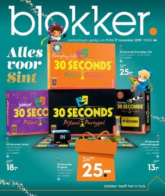 Blokker reclame folder (geldig t/m 17-11)