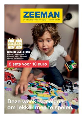 Zeeman reclame folder (geldig t/m 15-11)