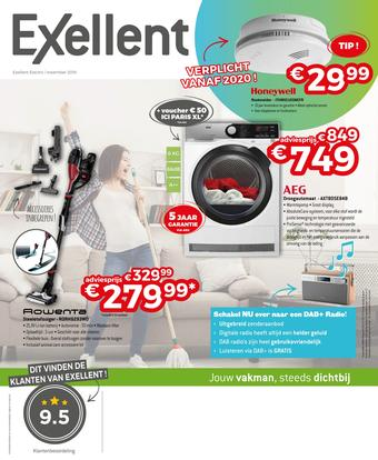 Exellent reclame folder (geldig t/m 30-11)