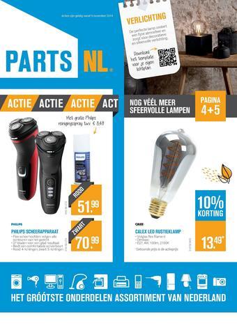 PartsNL reclame folder (geldig t/m 15-12)