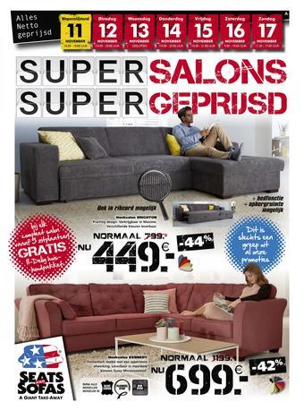 Seats and Sofas reclame folder (geldig t/m 17-11)