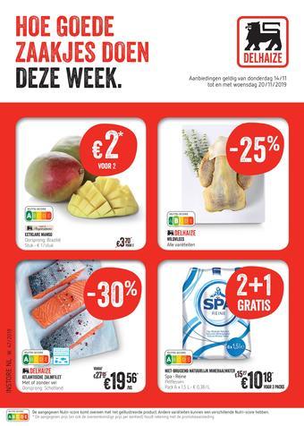 Shop & Go Delhaize reclame folder (geldig t/m 20-11)