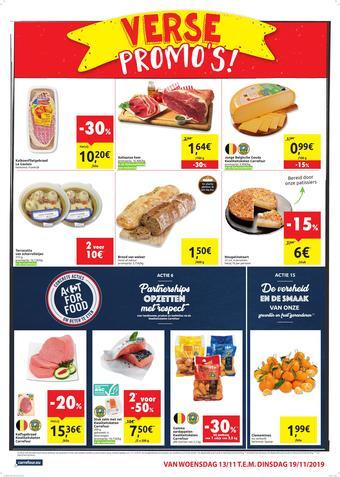 Carrefour Market reclame folder (geldig t/m 19-11)