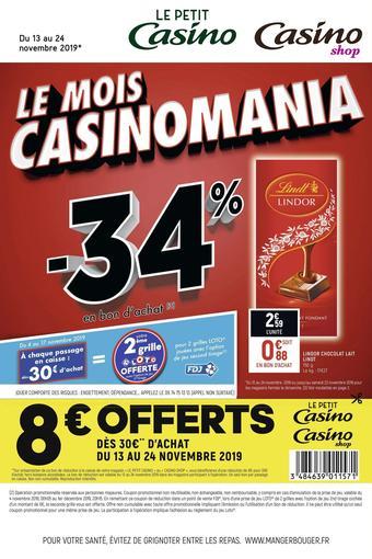 Petit Casino catalogue publicitaire (valable jusqu'au 24-11)