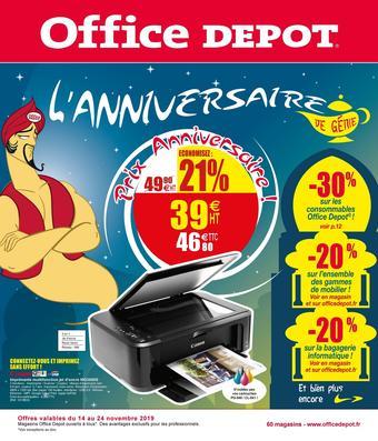 Office Depot catalogue publicitaire (valable jusqu'au 24-11)
