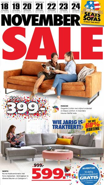 Seats and Sofas reclame folder (geldig t/m 24-11)