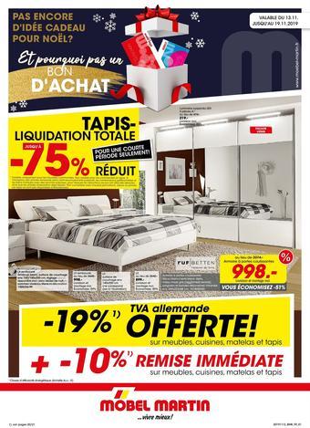 Möbel Martin catalogue publicitaire (valable jusqu'au 19-11)