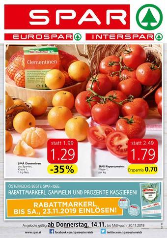 Spar Werbeflugblatt (bis einschl. 20-11)