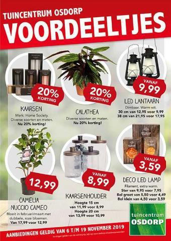 Tuincentrum Osdorp reclame folder (geldig t/m 19-11)