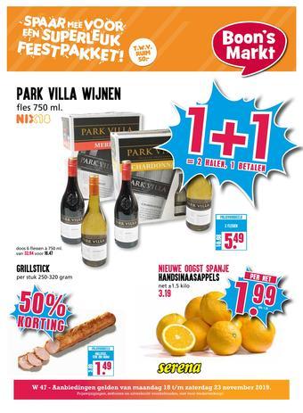 Boon`s Markt reclame folder (geldig t/m 23-11)