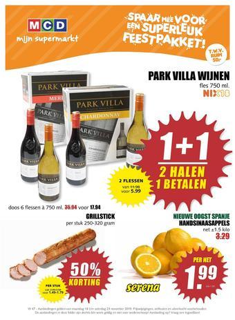 MCD Supermarkt reclame folder (geldig t/m 23-11)