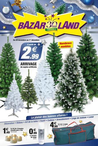 Bazarland catalogue publicitaire (valable jusqu'au 01-12)