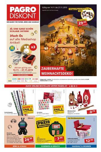 Pagro-Diskont Werbeflugblatt (bis einschl. 27-11)