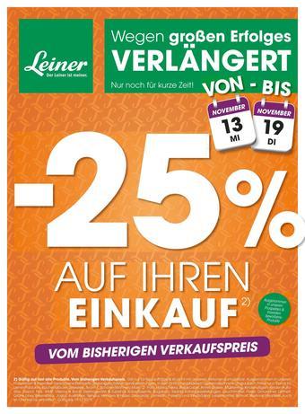 Leiner Werbeflugblatt (bis einschl. 19-11)