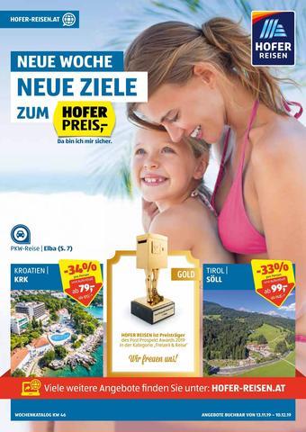 Hofer Reisen Werbeflugblatt (bis einschl. 10-12)