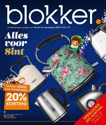 Blokker reclame folder (geldig t/m 24-11)