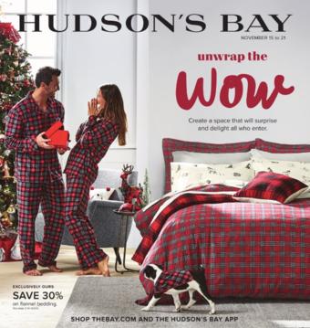 Hudson's Bay reclame folder (geldig t/m 21-11)