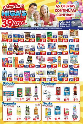 Higa's Supermercado catálogo promocional (válido de 10 até 17 29-11)