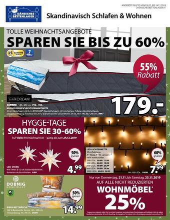 Dänisches Bettenlager Werbeflugblatt (bis einschl. 24-11)