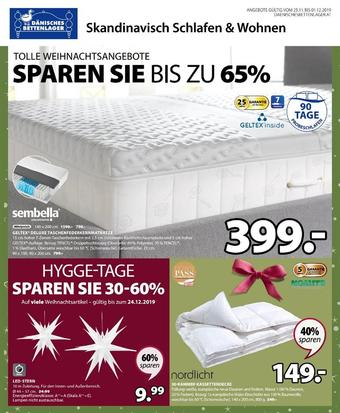 Dänisches Bettenlager Werbeflugblatt (bis einschl. 01-12)