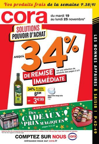 Cora catalogue publicitaire (valable jusqu'au 25-11)