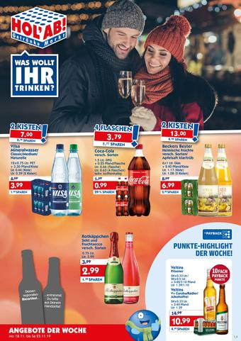 Hol'ab Getränkemarkt Prospekt (bis einschl. 23-11)