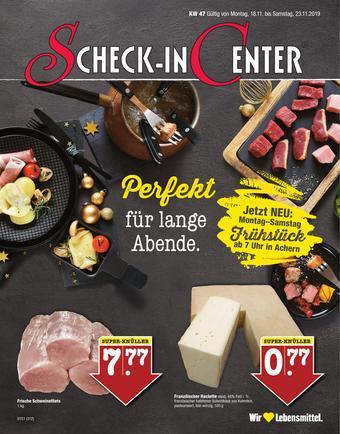 Scheck-in-Center Prospekt (bis einschl. 23-11)